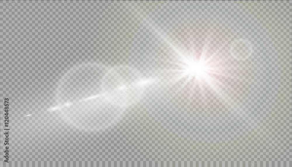 Fototapety, obrazy: Vector transparent sunlight special lens flare light effect.