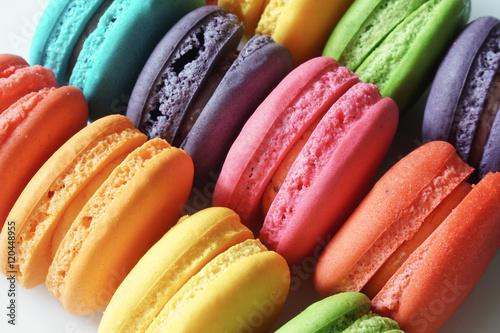 Poster Macarons colorful French macarons