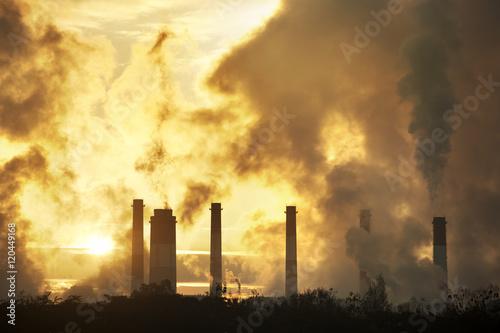 Fototapeta  hot steam from big chimney obraz na płótnie