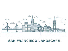 San Francisco Landscape Vector...