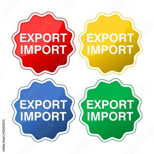 Fotografia, Obraz  Export Import Buttons
