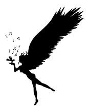 Zwart Wit Afbeelding Van Engel