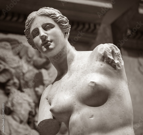 Aphrodite of Milos - Venus stone statue without hands Poster