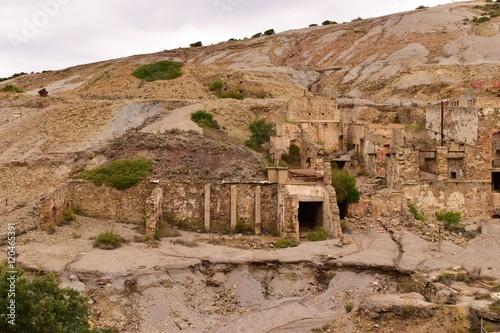 Photo antiche rovine di miniera