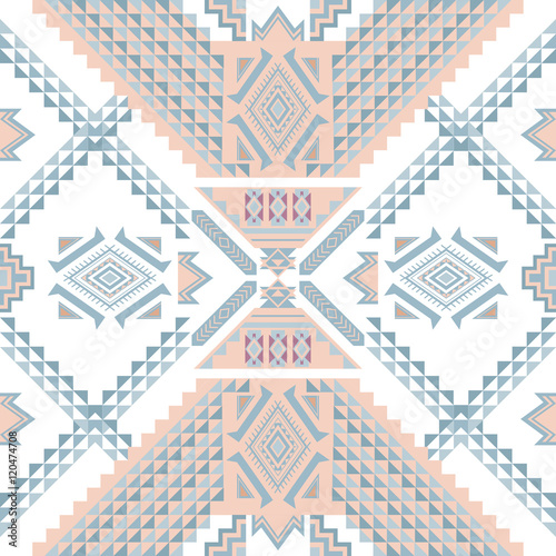 Ethnic geometrical pattern, tribal seamless pattern Poster