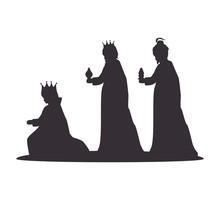 Silhouette Three Wise Kings Ma...