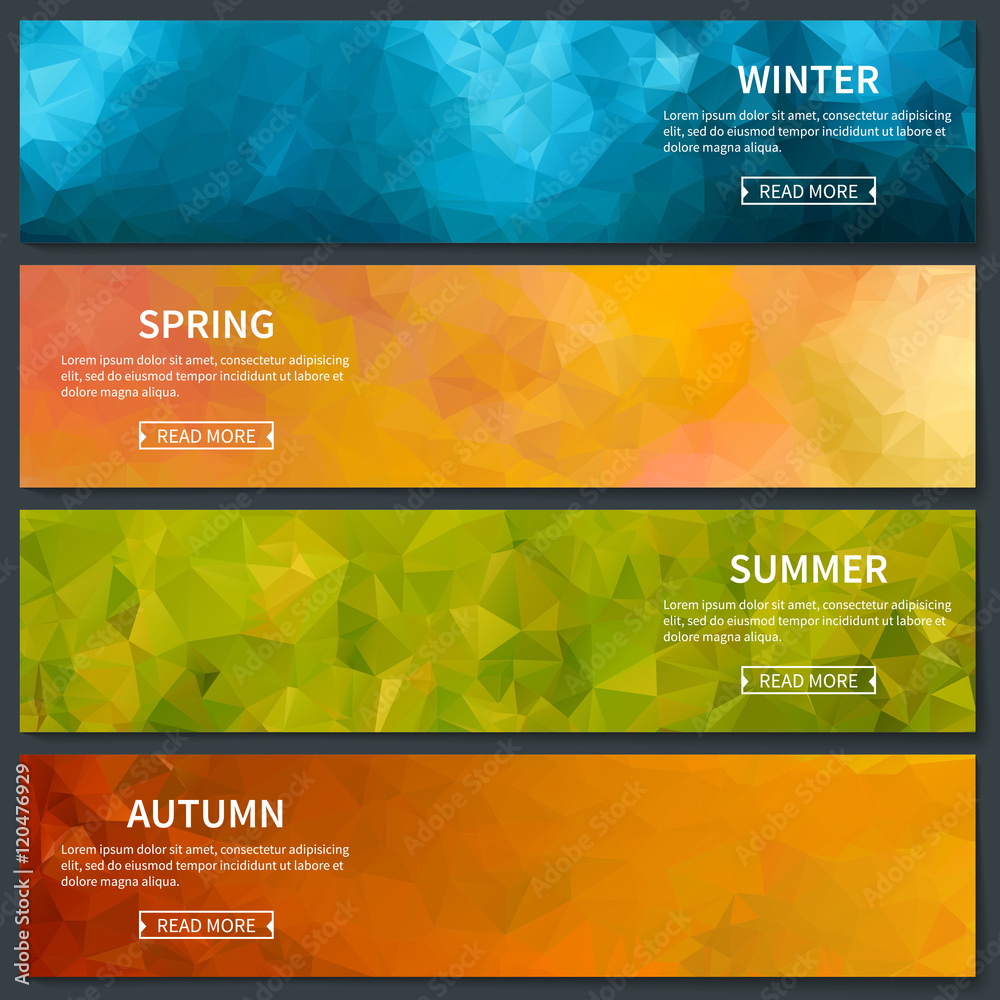 Fototapety, obrazy: Four Seasons Template
