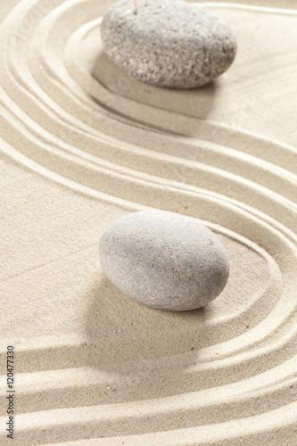 Tuinposter Stenen in het Zand japanese garden zen stone