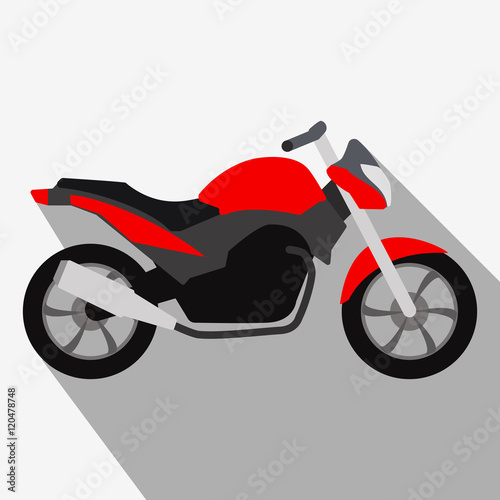 Photo  Motorcycle icon or sign. Bike Vector illustration