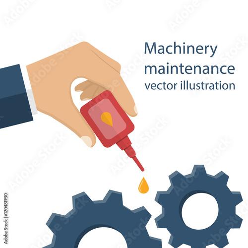 Fotografía  Machinery maintenance vector