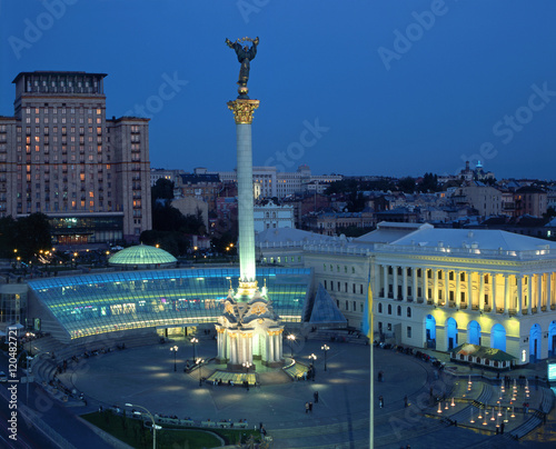 Canvas Prints Kiev Nezalezhnosti square in Kiev