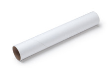 White Paper Tube Isolated On W...