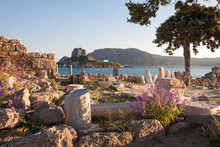 Ancient Ruins And Monastery In Kos, Greece