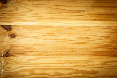 Tuinposter Hout Pine wood background with vignette shot from above