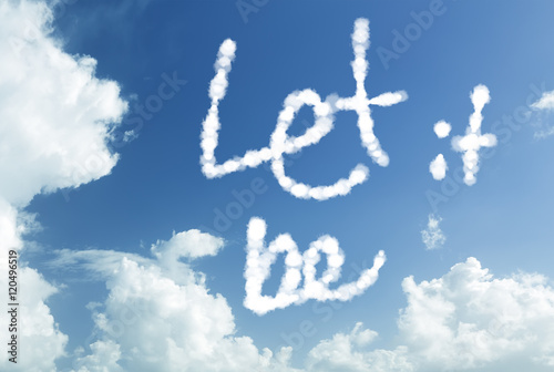 Photo  Let It Be written in the sky