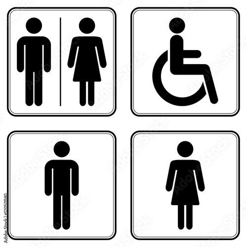Fotografie, Obraz  WC Symbole