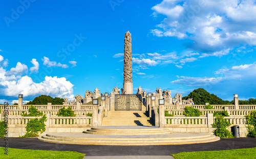 Canvas Print The Monolith sculpture in Frogner Park - Oslo