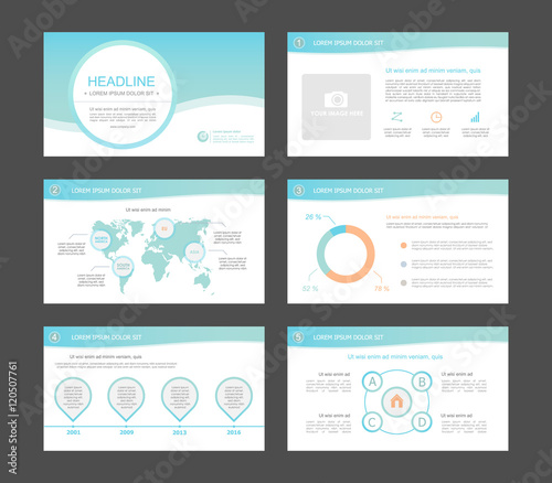 Infographic Elements For Presentation Templates Leaflet Annual