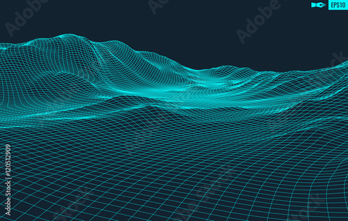 Fotografía  Abstract vector landscape background