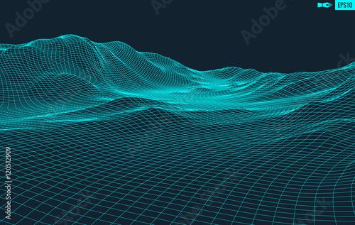 Fotografía  Abstract vector landscape background