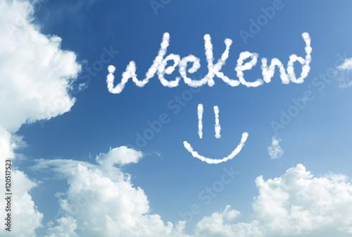 Fotografía  The Weekend =) written in the sky