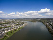 Koblenz City Germany with historic rhine valley