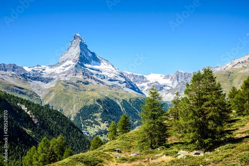 Fotografia Matterhorn - beautiful landscape of Zermatt, Switzerland