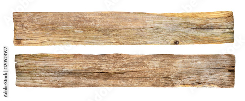 Fototapeta empty rustic wooden sign on white background. obraz