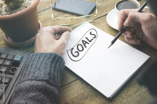 goals on notebook Wallpaper Mural