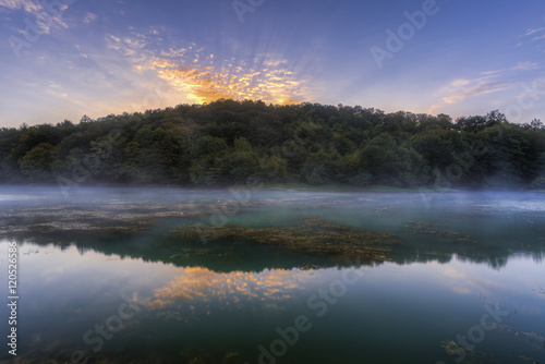 Fototapeten Natur Lake in the fog