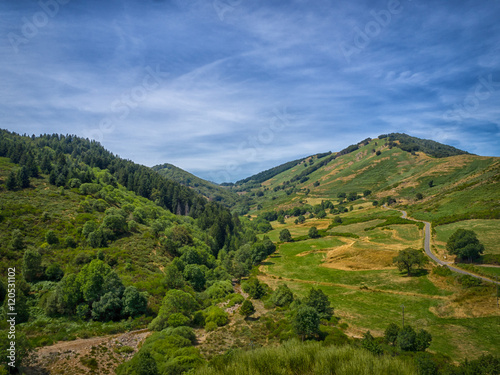 Photo  A valley in the Cevennes, looking like a scene from Lord of the Rings