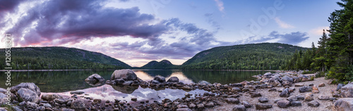 The bubbles at the jordan pond, in the Acadia National Park Canvas Print