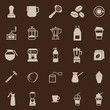 Barista color icon on brown background