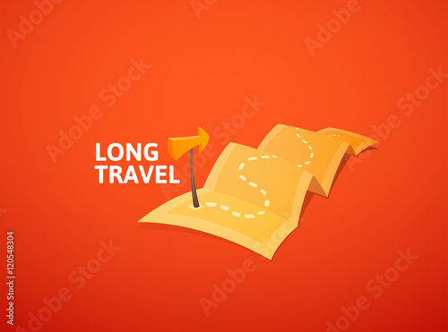 World tour concept logo long route in travel map with guide marker world tour concept logo long route in travel map with guide marker gumiabroncs Image collections