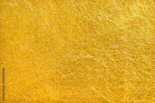 Tela Shiny yellow leaf gold foil texture background