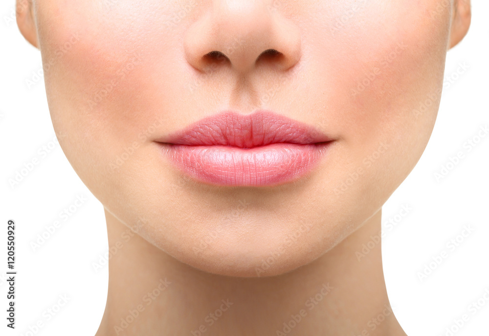 Fototapety, obrazy: Young woman close up. Sexy plump lips