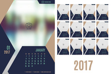 Vector Of Calendar 2017 Year ,...