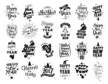Happy New Year Typographic Emb...