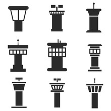 Airport Control Tower Vector I...