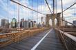 New York City Brooklyn Bridge in Manhattan