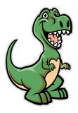 Fototapeta Dinusie - happy dinosaur cartoon