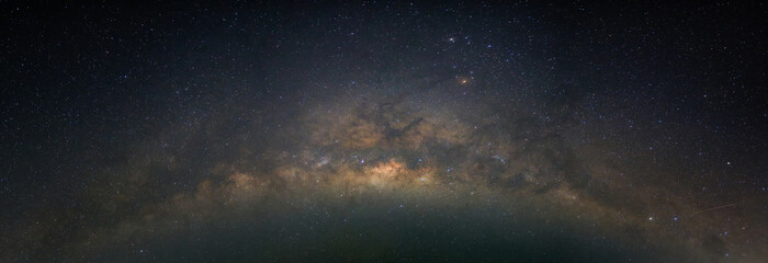 Milky way, star, and space in night time