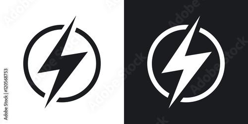 Lightning icon, vector Poster Mural XXL