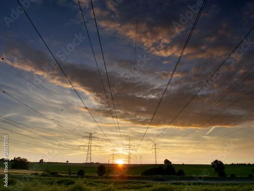 Photo  Sunset near Svemyslice, Czech Republic