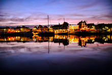 Waterfront Of Volendam At Nigh...