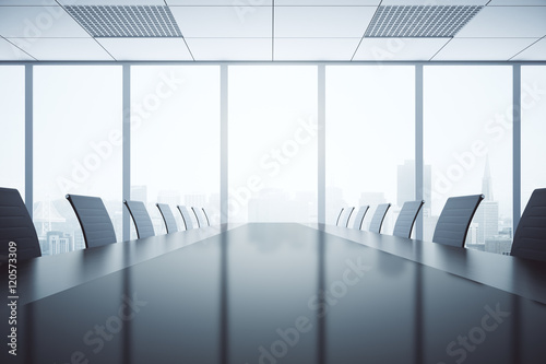 Dark conference table