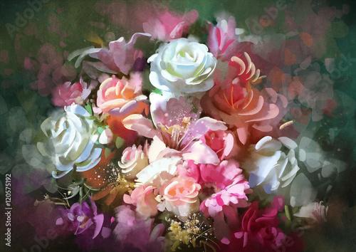 bukiet-kolorowych-kwiatow-ilustracja-cyfrowa
