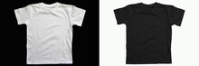 Black Cotton T-shirt On A Whit...
