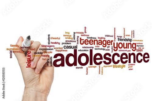 Adolescence word cloud Tapéta, Fotótapéta