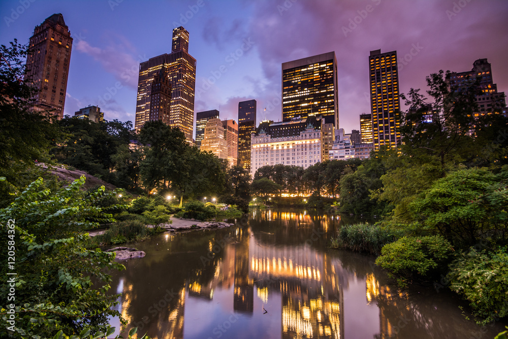 Fototapety, obrazy: sundown at central park, new york